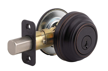Kwikset 980S-S Signature Series SmartKey Single Cylinder Deadbolt - Venetian Bronze