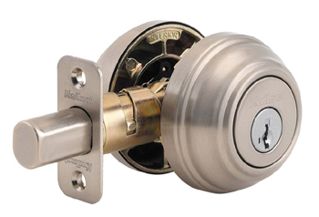 Kwikset 985S-S Double Cylinder Deadbolt Featuring SmartKey - Satin Nickel