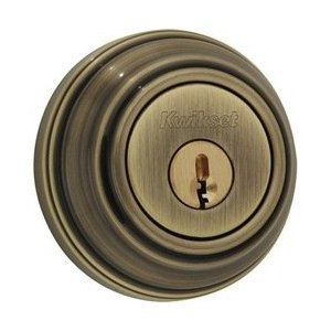 Kwikset 985S-S Double Cylinder Deadbolt Featuring SmartKey - Antique Brass