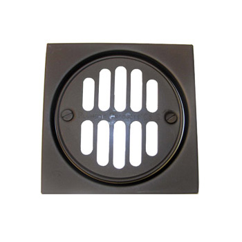 Lasco 31341ob Square Round Shower Drain Oil Rubbed Bronze
