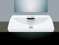 Toto LFC991G-01 Neorest Self Rimming Lavatory Sink with Chrome Sensor Faucet - Cotton White