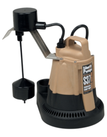 Liberty Pumps S37 1/3 hp Builders Series Submersible Sump Pump