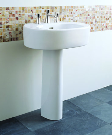Toto LPT790-01 Nexus Suite Pedestal Lavatory w/ Single-Hole Faucet Mount - Cotton White