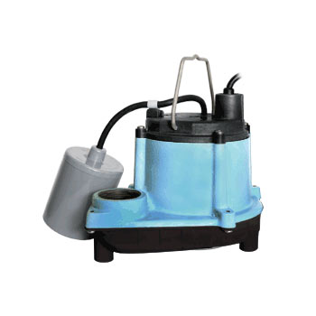 Little Giant 6-CIM-R 1/3 HP, 115V - Manual Submersible Sump Pump, 10' Power Cord (506271)