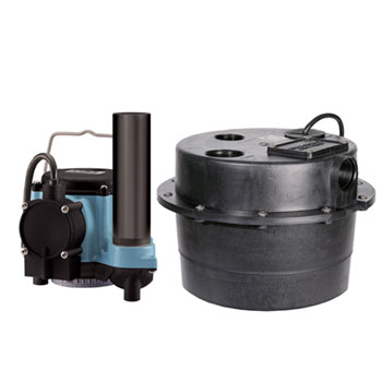 Little Giant WRSC-6 Compact Drainosaur Water Removal System 1/3 HP, 115V & 8' Power Cord (506065)