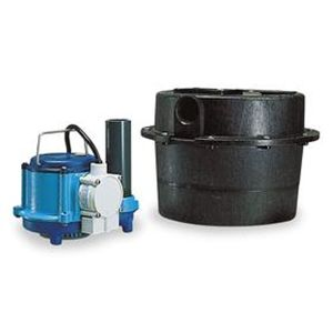 Little Giant WRSC-6 Compact Drainosaur Water Removal System 1/3 HP, 230V & 8 ft Power Cord (506066)