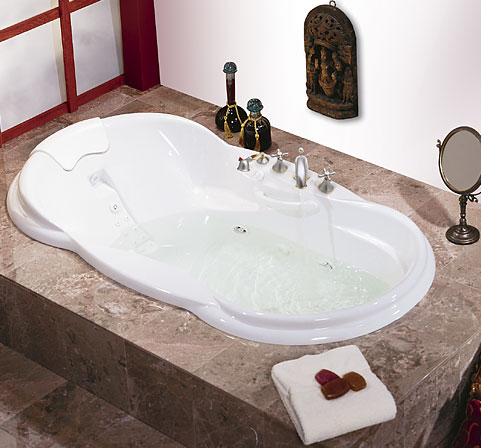 MAAX 100082-004 Palace Whirlpool Bath Tub - White