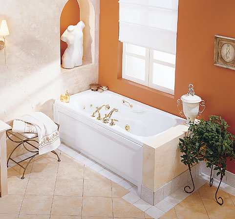 MAAX 101054-004 Topaz Whirlpool Bath Tub - White