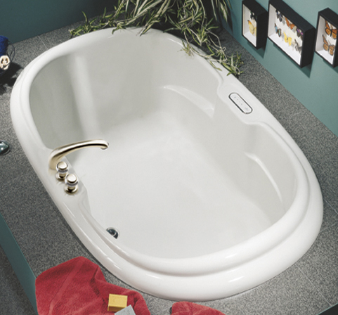 MAAX 101059-004 Calla Whirlpool Bath Tub - White
