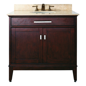Avanity MADISON-V36-LE Madison 36 In. Bathroom Vanity - Light Espresso