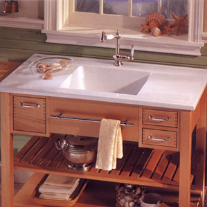 MH Base Franke Fireclay Drop-In Islander Kitchen Sink