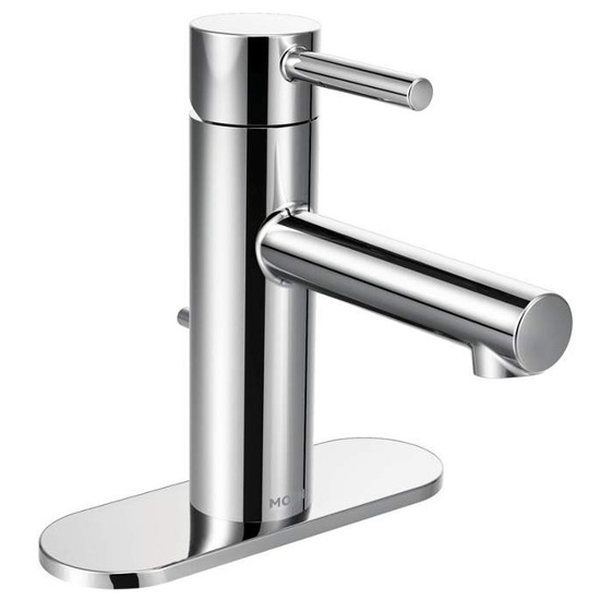Moen 6190 Align Single Handle Single Hole Bathroom Faucet (Valve Included) - Chrome