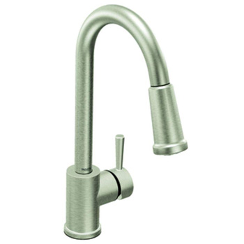 Moen 7175CSL Level Single Handle Pulldown Kitchen Faucet - Classic Stainless
