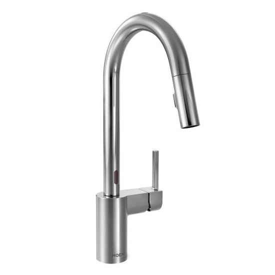 Moen 7565EC Align One Handle High Arc MotionSense Pulldown Kitchen Faucet - Chrome