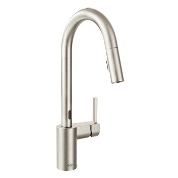 Moen 7565ESRS Align One Handle High Arc MotionSense Pulldown Kitchen Faucet - Spot Resist Stainless