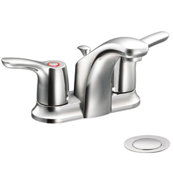Cleveland Faucet Group CA42211 Baystone Centerset Bathroom Sink with 50/50 Pop-Up Drain - Chrome