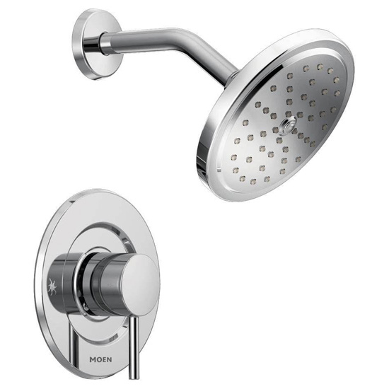 Moen T3292 Single Handle Moentrol Pressure Balanced Shower Trim with Rain Shower Head and Volume Control from the Align Collection (Less Valve) - Chrome