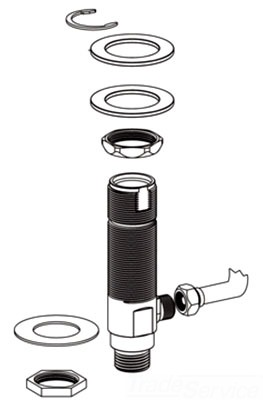 Moen 101017 Metering Faucet Hardware Pack Faucetdepot Com