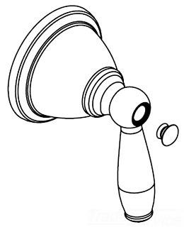 moen 131109orb shower handle kit oil rubbed bronze - Moen Shower Handle