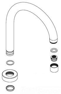 Moen 137521 Kitchen Faucet Spout Embly Chrome