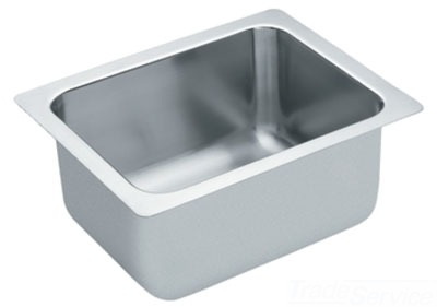 Moen 22124 Commercial Single Bowl Kitchen Sink - Stainless Steel