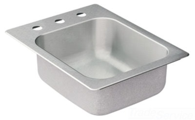Moen 22127 Commercial 20 Gauge Single Bowl Kitchen Sink - Stainless Steel