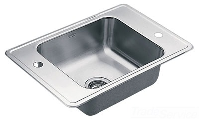 Moen 22128 Commercial 20 Gauge Single Bowl Kitchen Sink - Stainless Steel