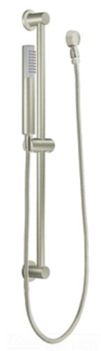 Moen 3885BN Level Single Function Handshower with Slide Bar - Brushed Nickel