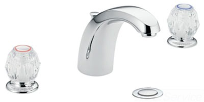 Moen 64962 Chateau Two Knob Handle Widespread Lavatory Faucet with 50/50 Waste Assembly - Chrome
