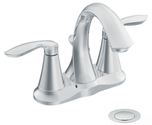 Moen 66410 Eva Two Handle Centerset Lavatory Faucet with 50/50 Drain - Chrome