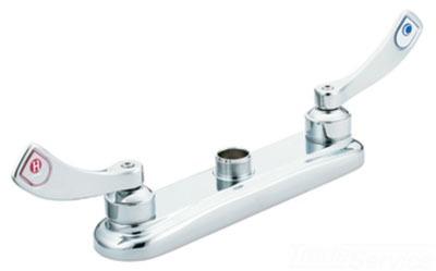 Moen 8285 M Dura Two Handle Wrist Blade Kitchen Faucet