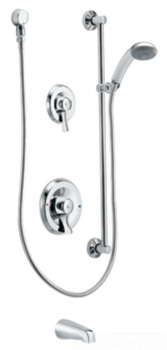 Moen 8341 Commercial Three Function Tub/Shower System - Chrome