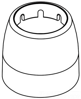 Moen 93990wr Handle Dome For 7400 Series Kitchen Faucets