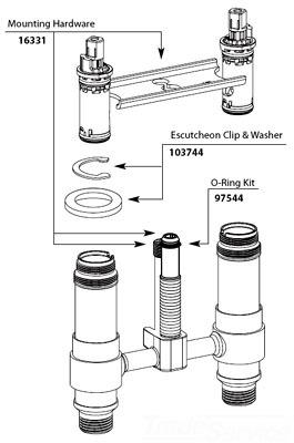 Moen 97544 4 Quot Mini Widespread O Ring Kit Faucetdepot Com