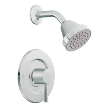 Moen T2702EP Level PosiTemp Single Handle Shower Trim Only - Chrome