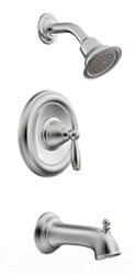 Moen T62153 Brantford PosiTemp Single Handle Tub/Shower Trim Only - Chrome