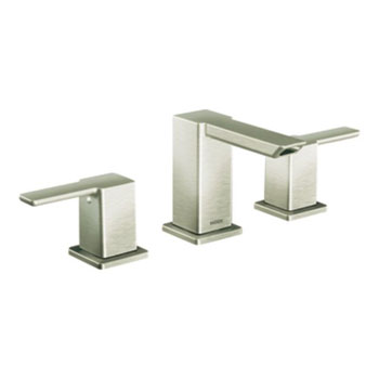 Moen TS6720BN 90 Degree Two Handle Widespread Lavatory Faucet Trim - Brushed Nickel