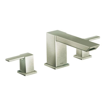 Moen TS903BN 90 Degree Two-Handle Roman Tub Faucet Trim - Brushed Nickel