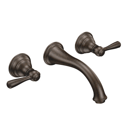Moen T6107ORB Kingsley Two-Handle Wall-Mounted Lavatory Faucet Trim - Oil Rubbed Bronze