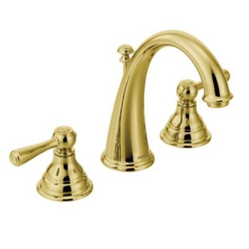 Moen T6125P Kingsley Two-Handle Widespread Lavatory Faucet Trim - Polished Brass