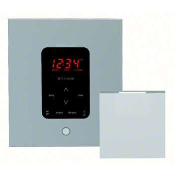 Mr. Steam MS-ITPLUS-SQ-PN iTempo Plus Control Pad with Square Cover - Polished Nickel (Pictured in Polished Chrome)