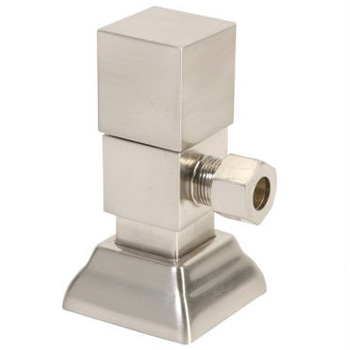 Mountain Plumbing 5004NLCPB Square Handle Angle Valve - Polished Chrome