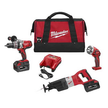 Milwaukee 0928-23 M28 Cordless Lithium-Ion 3-Piece Combo Kit