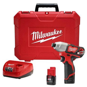 Milwaukee 2462-22 M12 12-Volt Lithium-Ion 1/4 in. Cordless Impact Driver Kit