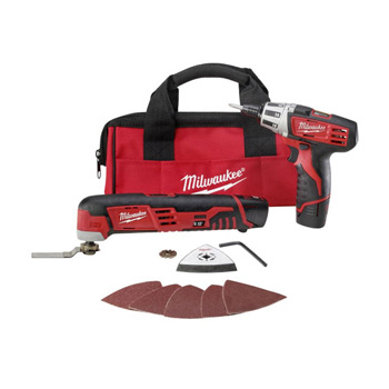 Milwaukee 2496-22 M12 Cordless Lithium-Ion 2-Tool Combo Kit