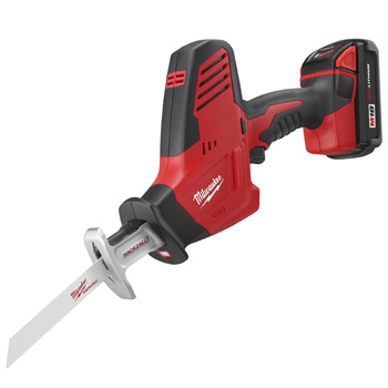 Milwaukee 2625-21 M18 Cordless Hackzall One Handed Reciprocating Saw Kit with XC Battery