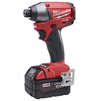 Milwaukee 2653-22 M18 Fuel 18-Volt Brushless Lithium-Ion 1/4 in. Hex Impact Driver XC Battery Kit
