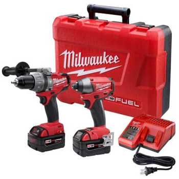 Milwaukee Tools 2797-22 M18 Fuel 18-Volt Brushless Lithium-Ion Hammer Drill/Impact Driver XC Combo Kit
