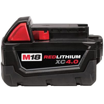 Milwaukee 48-11-1840 M18 18-Volt Lithium-Ion XC 4 Ah Extended Capacity Battery