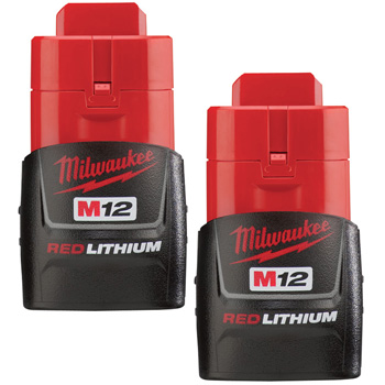 Milwaukee 48-11-2411 M12 RedLithium Compact 1.5Ah Battery (2-Pack)